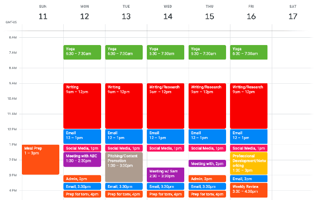 Time Blocking con Google Calendar