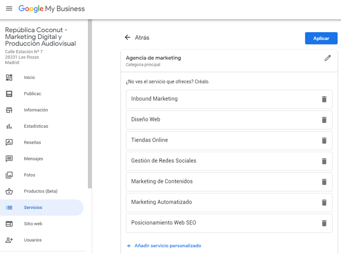 servicios google my business